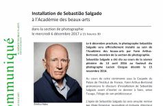 Sebastião Salgado na Academia de belas artes francesa