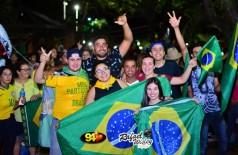 Veja as fotos da comemoração dos apoiadores de Bolsonaro em Dourados, por Rafael Wisley