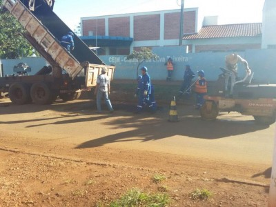 A prefeitura realizou o serviço ontem (13) --- (Foto: divulgação/94FM