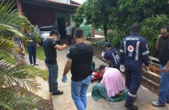 Crime bárbaro foi descoberto nesta tarde de sexta-feira pela polícia (Foto: Sidnei Bronka)