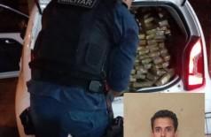 Questionado, o acusado disse que pegou a droga em Dourados e levaria para Barretos (SP) e ganharia R$ 10 mil (Foto: Sidnei Bronka)
