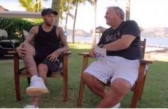 Neymar foi o entrevistado do Zico - Foto: Reprodução