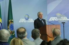 Em pronunciamento, o presidente Michel Temer anuncia o uso de forças federais de segurança para liberar rodovias bloqueadas por caminhoneiros (Foto: Antônio Cruz/Agência Brasil)