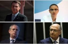 Jair Bolsonaro, Marina Silva, Ciro Gomes e Geraldo Alckmin - Reprodução/O Globo