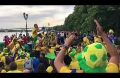 Torcida organizada do Brasil surpreende seleção com nova música (reprodução/vídeo)