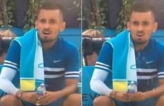Kyrgios faz gesto fálico - Foto: Reprodução/Twitter