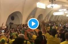 Brasileiros garantem a festa em solo russo - Foto: Reprodução/ Twitter