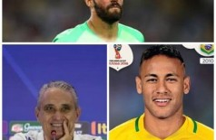 Tite, Alisson e Neymar - Fotos: internet/Facebook