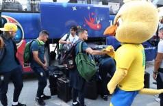Seleção Brasileira já está em Kazan para o jogo contra a Bélgica (Foto: reprodução/CBF)