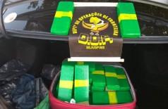 Droga estava no porta-malas de veículo conduzido por motorista de aplicativo, que disse desconhecer a presença da droga e foi liberado (Foto: Divulgação/DOF)