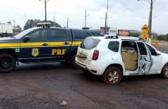 PRF apreende 947 kg de maconha e recupera veículo roubado (Foto: reprodução/PRF)