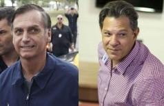 Candidatos à Presidência Jair Bolsonaro (PSL) e Fernando Haddad (PT). - Tânia Regô / Marcelo Camargo / Agência Brasil