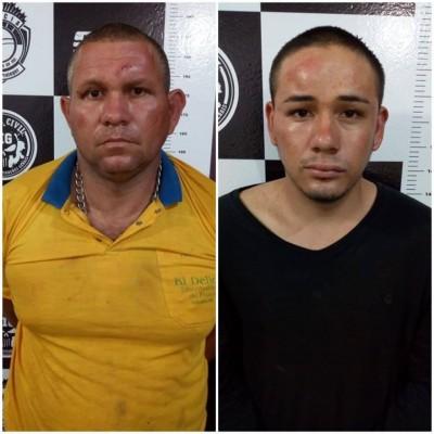 Adriano Aparecido de Souza Placido, de 35 anos, e Renner Pimentel, de 21 anos, - Fotos: Sidnei Bronka
