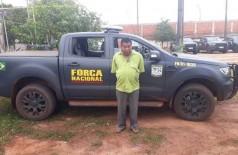 Leonardo de Souza, da etnia Guarani-Kaiowá, foi preso na manhã de hoje e encaminhado para a Delegacia da Polícia Federal em Dourados (Foto: Divulgação)