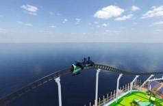 Projeto da montanha-russa em navio de cruzeiro da Carnival - Foto: Divulgação/Carnival Cruise Line