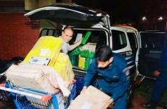 Policiais encontraram 22 fardos de maconha escondidos em chácara (Foto: Divulgação/PM-MS)