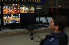 Sistema de videomonitoramento na área central de Dourados foi implantado em 2014 (Foto: A. Frota)