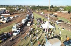 Greve nacional dos caminhoneiros teve forte impacto em Dourados (Foto: Eliel Oliveira)