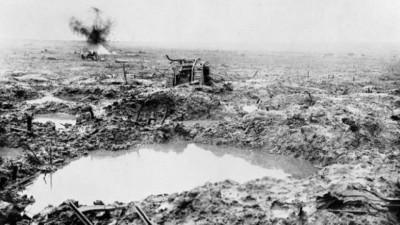 Cena da batalha de Passchendaele (Foto: Reprodução)