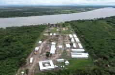 Canteiro da obra da estrada no Paraguai onde será construída a ponte sobre o Rio Paraguai (Foto: Toninho Ruiz)