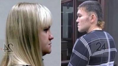 A agressora e a vítima em tribunal da Rússia - Foto: Reprodução da internet