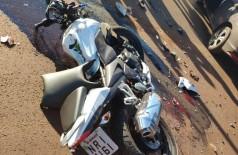 Moto que Wellington Lopes estava pilotando - foto: divulgação/94FM