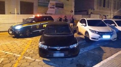 PRF recupera dois veículos roubados e prende quatro pessoas em MS (Foto: reprodução/PRF)