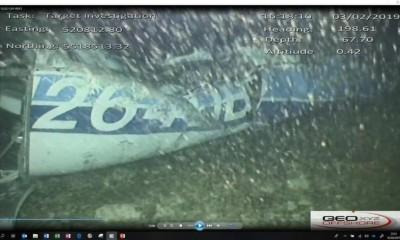 Imagens identificaram corpo entre a fuselagem do monomotor - Foto: Reproduçã/Twitter AAIB