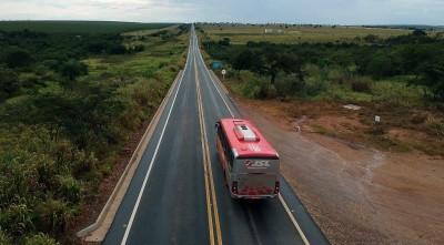 MS-395: asfalto de qualidade entre Bataguassu e Brasilândia (Foto: Edemir Rodrigues)