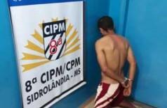 Homem foi levado a Delegacia de Polícia de Sidrolândia - Foto: Divulgação/PM