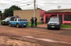 Polícia durante operação em Maracaju (Foto: divulgação/polícia)