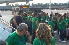 Onevan ao telefone, já no aeroporto de Guarulhos, em São Paulo, com grupo que saiu de Campo Grande.