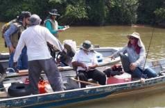 Fiscalização da PMA em rio do Estado; regras para pesca amadora e desportiva vão mudar a partir deste ano. (Foto: PMA/Divulgação)