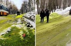 Neve verde em cidade russa - Foto: Reprodução/east2wet