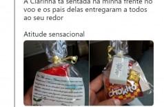 Saco de doces em avião (Foto: Reprodução )