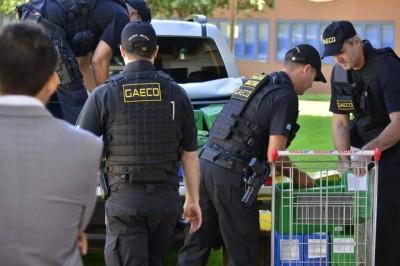 Policiais estiveram na prefeitura de Dourados na manhã de hoje (Foto: Eliel Oliveira/Arquivo)