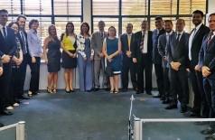 Conselheiros empossados para atuar como membros do Tribunal Administrativo Tributário da Sefaz-MS (Foto: Diana Gaúna)