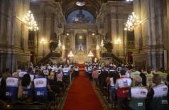 Na Igreja da Candelária,  missa celebrou os dez anos da Lei Seca no Estado do Rio  (Foto: Tomaz Silva/Agência Brasil)