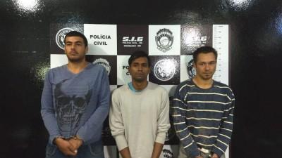 Marcos Vicente Ciardolo, Josimar da Silva Lemos e Welinton Cardoso acusados de matar cabeleireiro em Dourados (Foto: Sidnei Bronka)