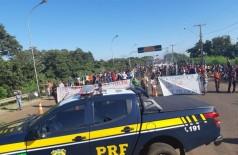 PRF acompanha protesto - Foto: divulgação/PRF