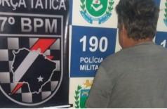 Homem foi preso sob suspeito de violentar a sobrinha de 2 anos (Foto: reprodução / Jornal Notícias do Estado)