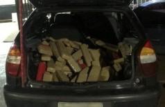 Após tentativa de fuga, PRF apreende 316 kg de maconha transportada por menor (Foto: reprodução/PRF)