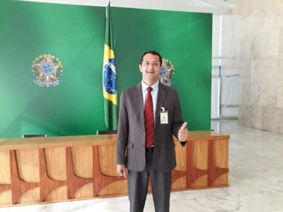 Antes de ser afastado, vereador Cirilo Ramão cumpriu agenda em Brasília, em viagem custeada com dinheiro público (Foto: Reprodução)