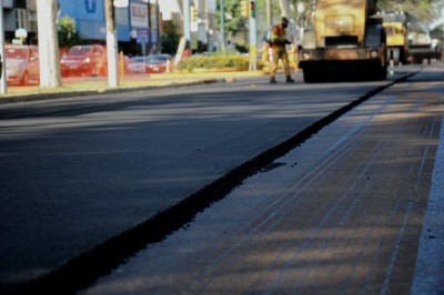 Recapeamento das avenidas de Dourados faz parte de pacote de investimentos estadual (Foto: Divulgação/Agesul)