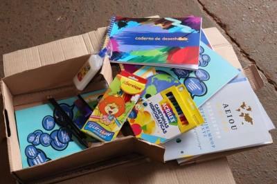 Os kits serão entregues aos alunos de pré-escolar, do 1° ao 5° ano e do 6° ao 9° -  Foto: A. Frota