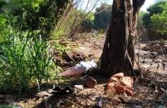 O Corpo foi encontrado ao lado de uma árvore - Foto: Sidnei Bronka