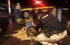 PRF apreende maconha sendo transportada dentro de botijões de gás na BR-463; vídeo (Foto: reprodução/PRF)