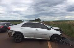 Condutor do Corolla dirigiu por 8 quilômetros em alta velocidade, até colidir com outro veículo; motorista morreu na hora (Foto: Divulgação)
