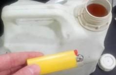 Homem joga gasolina, tenta atear fogo na esposa em bar, mas isqueiro falha