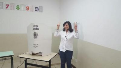 Eleita em 2016, prefeita Délia Razuk tem mandato até 2020, mas PEC no Congresso pode estender até 2022 (Foto: André Bento/Arquivo)